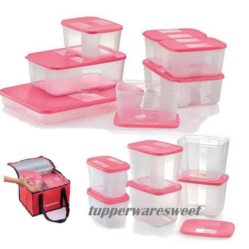 Tupperware Freezer Mate Set - Pink (13 Pcs)