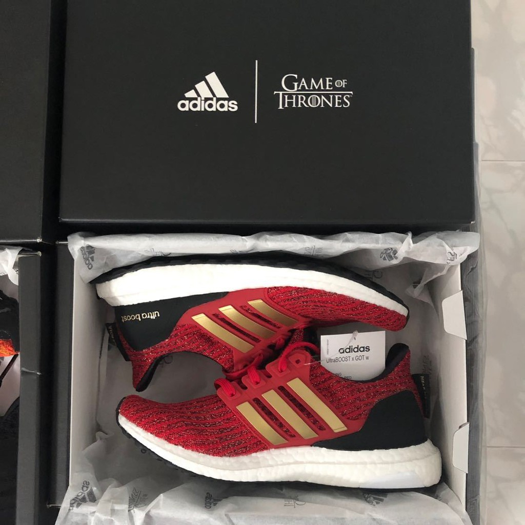 """Reina Es Amado  Adidas GAME OF THRONES x Ultra Boost """"House Lannister"""" 