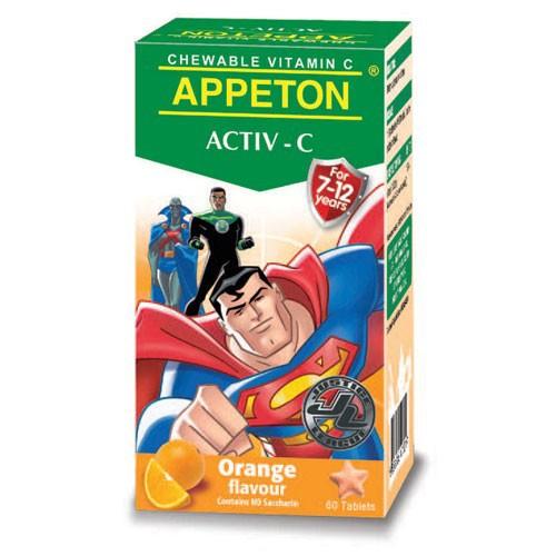 Appeton Activ-C 100mg Orange 60 Chewable Tablet