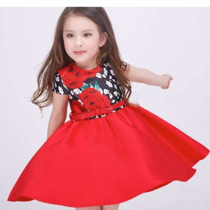 RED PRINCESS DRESS FOR LITTLE GIRLS AGE 4 TO 13 YRS OLD