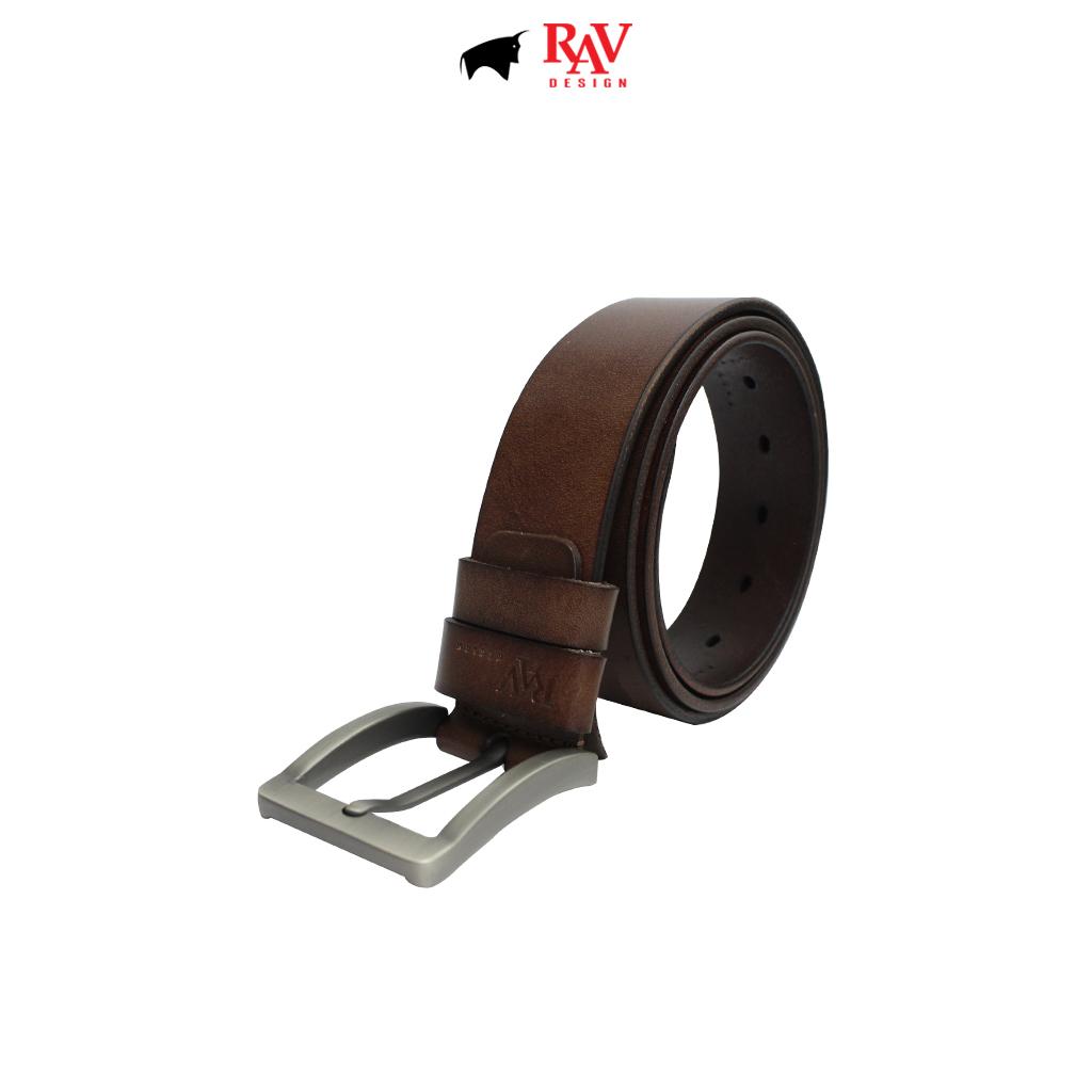 RAV DESIGN Men's 100% Genuine Cow Leather 40MM Pin Buckle Belt Brown |RVB590G1