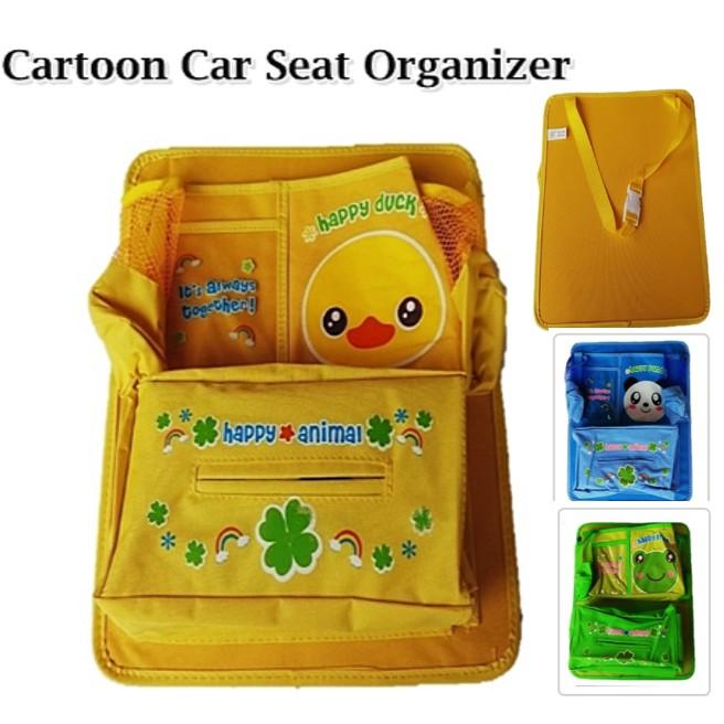 MALAYSIA] BEG POKET KERETA DI BELAKANG TEMPAT DUDUK / Cartoon Car Seat Back Storage Bag Organizer Travel Box Pocket