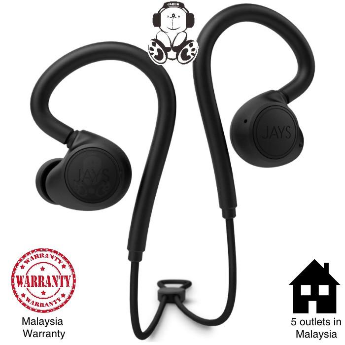 Jays m-Six Wireless High Performance Sweatproof aptX Bluetooth Earphones [Jaben]