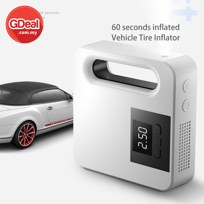 GDeal 12v Vehicle Tire Inflator 60 Second Inflated Digital Screen With Sensitive Button