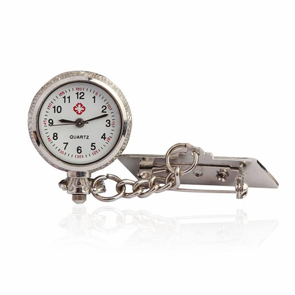 30cc7ee4c30 ProductImage. ProductImage. Unisex Arabic Metal Fibula Nurse White Dial Quartz  Pocket Watch Gift