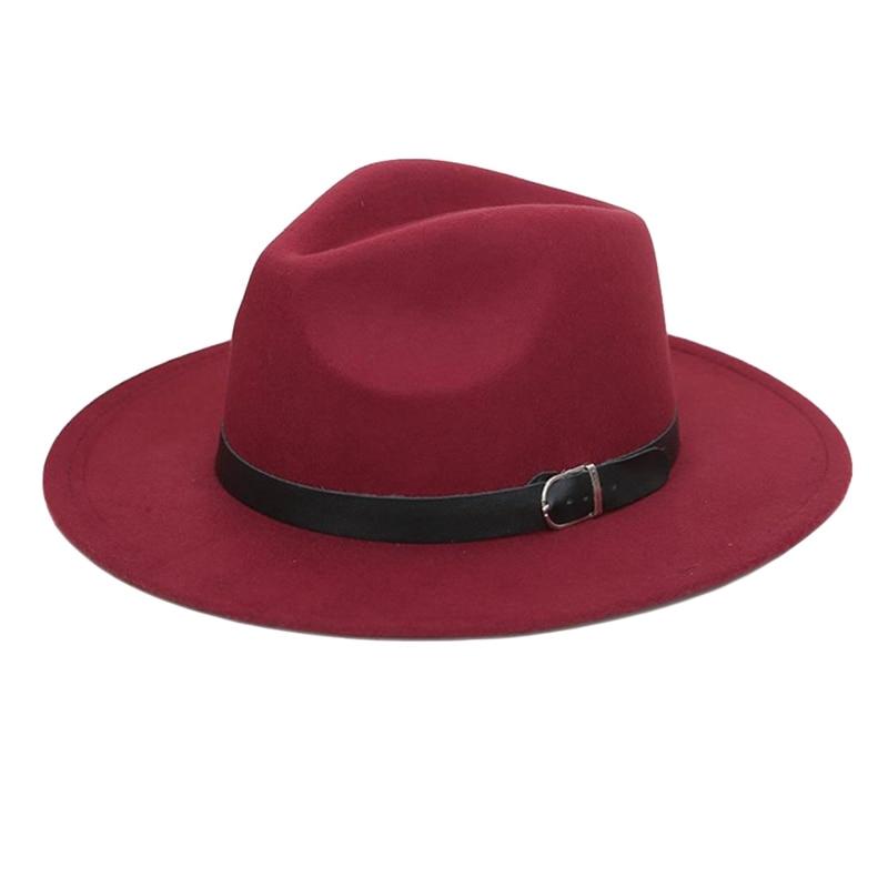 Men Fashion Cowboy Hat Wide Brim with Belt Beach Vintage Sun Hat