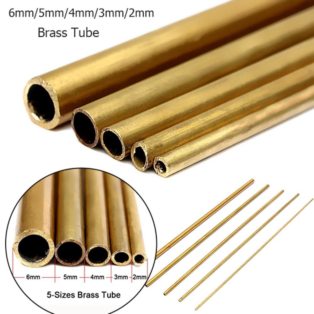 3mm Outside Diameter x 2mm Inside Diameter 500mm Copper Round Tube Pipe