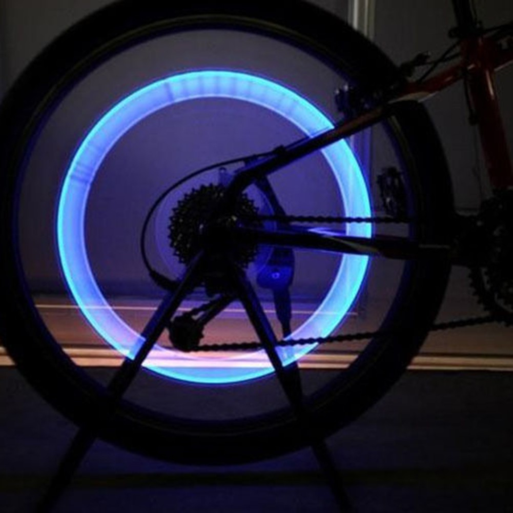 2x 5LED Flash Light Bicycle Motorcycle Car Bike Tyre Tire Wheel Valve Lamp New