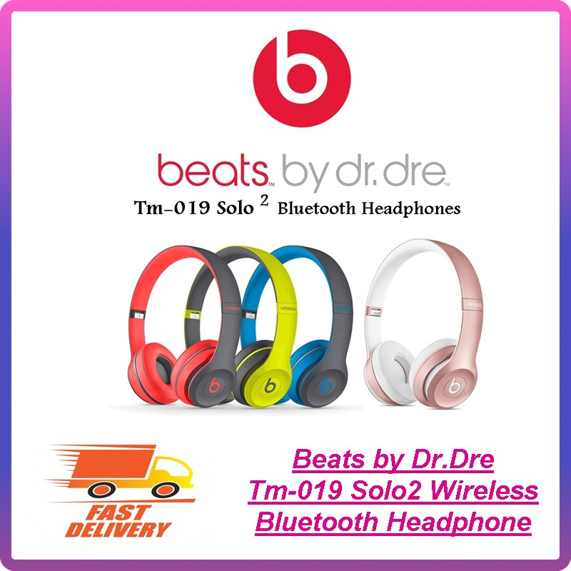 f61d3a14991 Beats by Dr.Dre TM-019 Solo 2 Wireless Bluetooth Shock Active On-Ear- Headphone | Shopee Malaysia