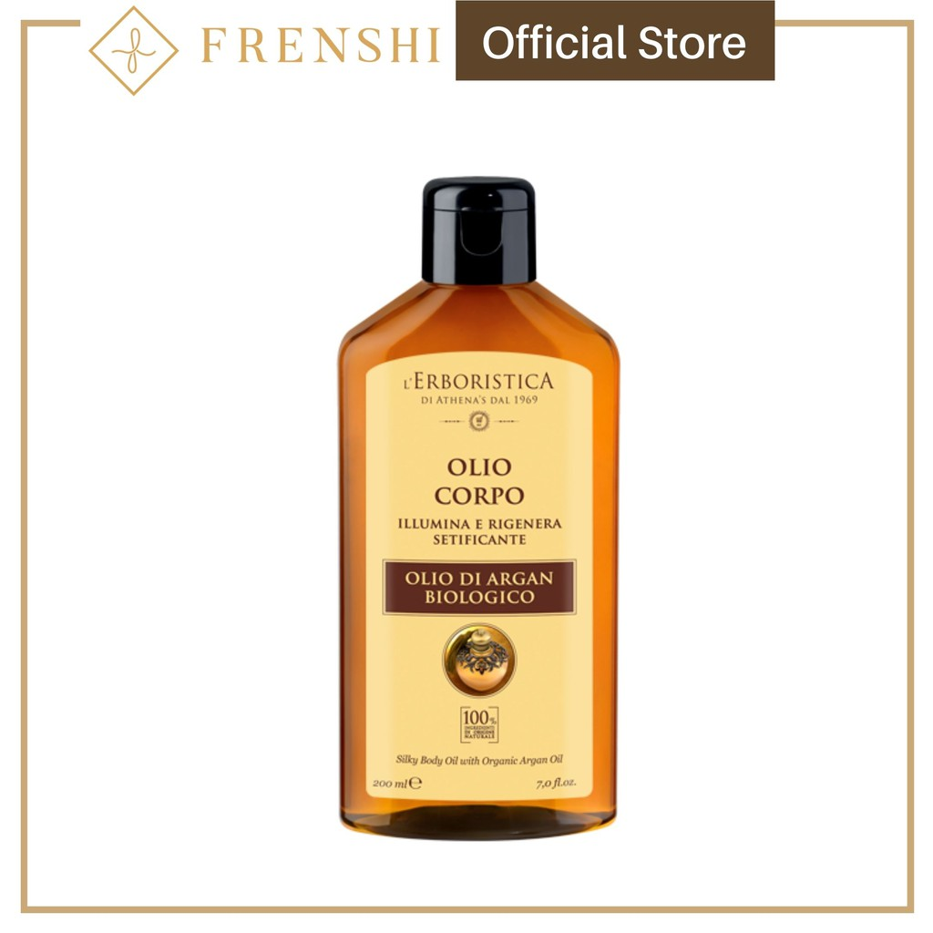 Frenshi L'Erboristica Argan Oil (Made in Italy) - BODY AND FACE OIL  WITH ARGAN OIL 200 ML