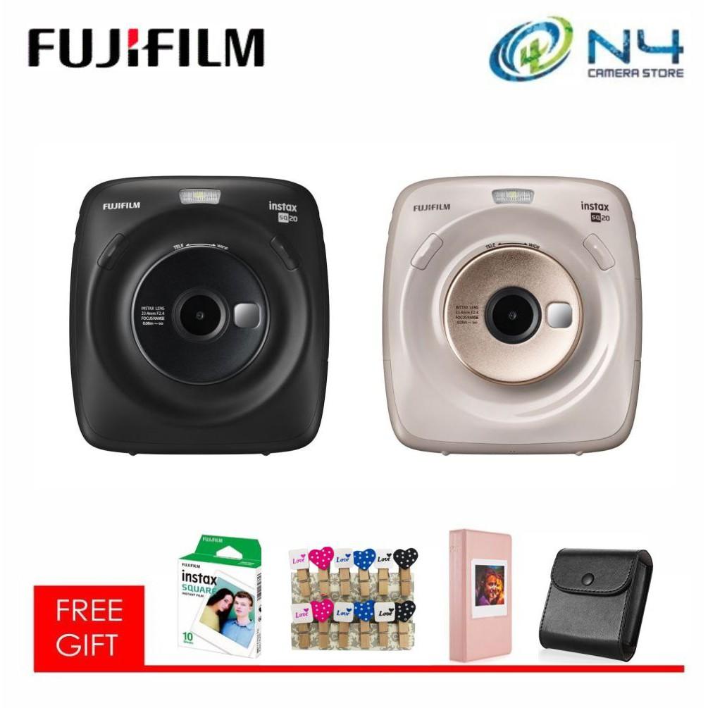 Fujifilm Instax Square SQ-20 / SQ20 Hybrid Camera Package