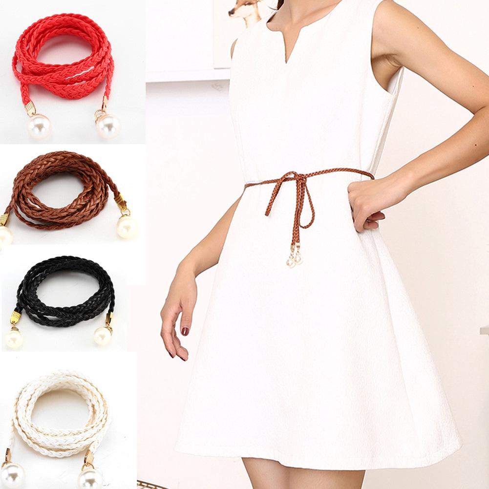 36d273712 BPONLINE Women Belt Style Candy Color Waist Chain Hemp Rope Braided Dress  Belt