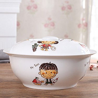 Z Family Soup Bowl With Lid
