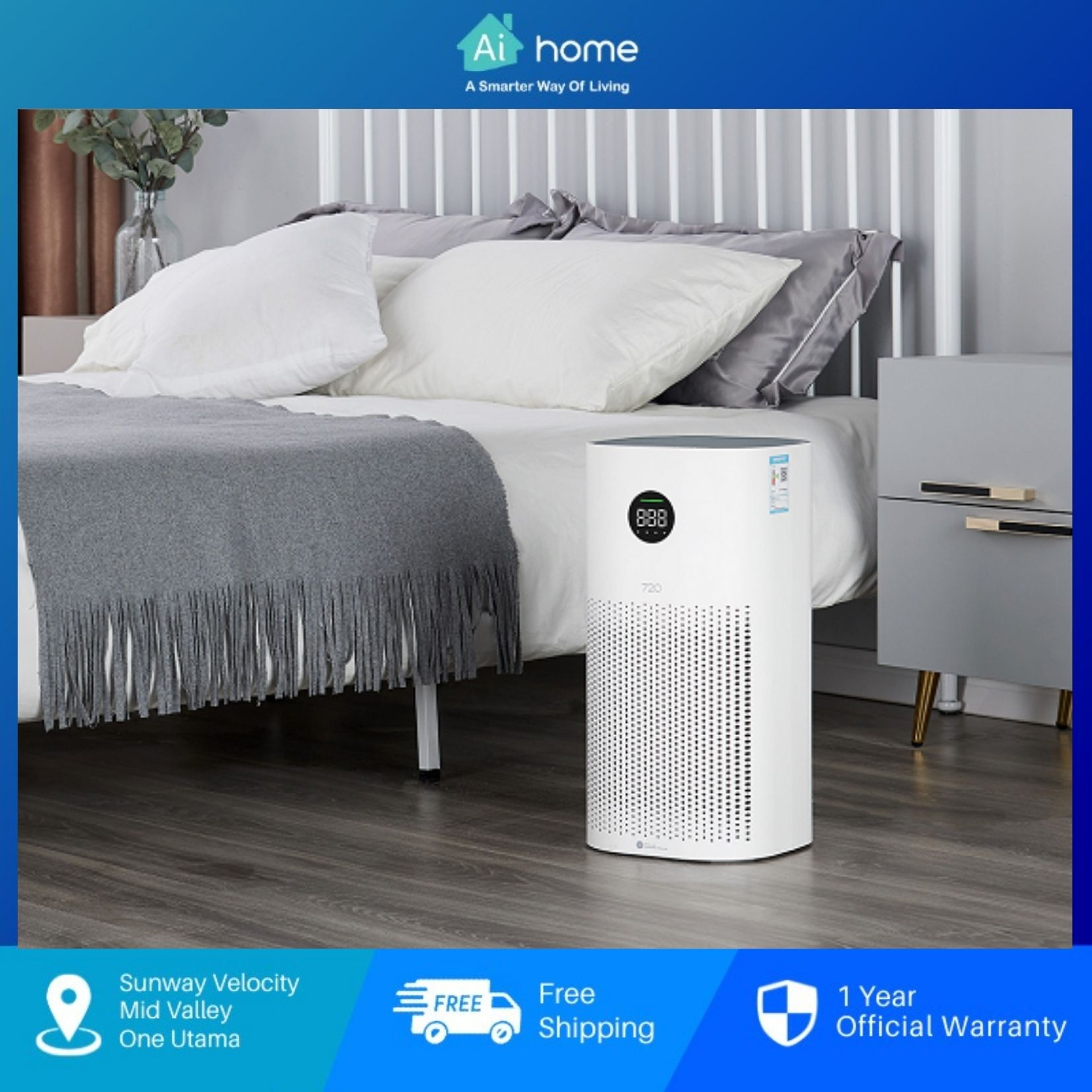 HUAWEI Hilink 720 Smart Air Purifier 1i - CN Version   Household De-formaldehyde Desphesion   Haze Particles  [ Aihome ]
