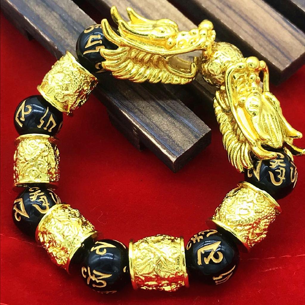 Fashion 24k Gold Plated Dragon Head Six