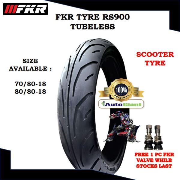FKR TAYAR RS900 TUBELESS - (100% ORIGINAL) 70/80-18, 80/80-18