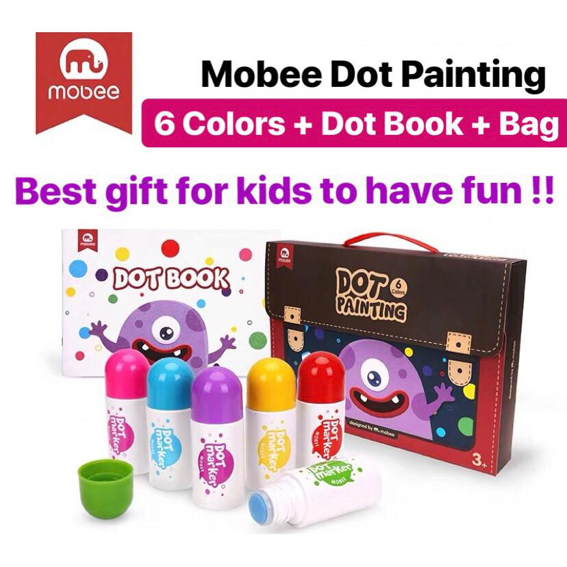 【Mobee DOT Painting - Best GIFT to KIDS】Creative Painting Set Dot Painting