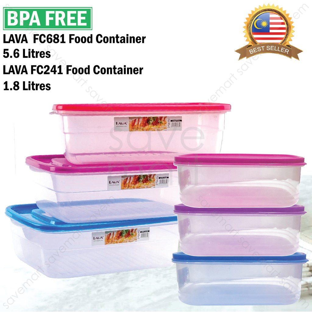 725fb6065d84 Lava Canister Food Container Storage 1.8L & 5.6L FC241 FC681 BPA FREE