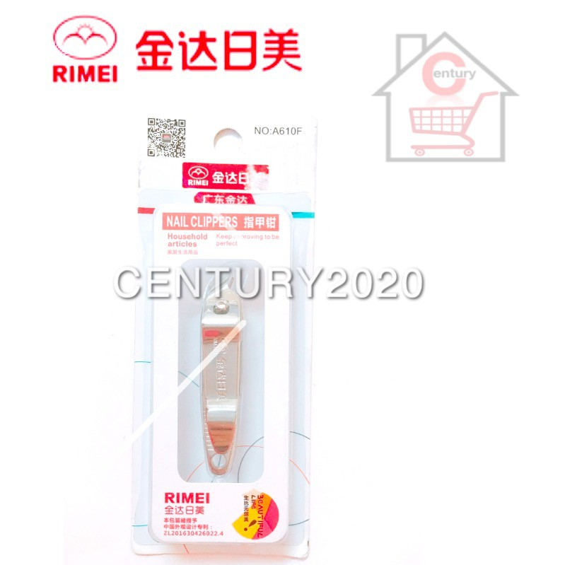 RIMEI Nail Clipper Manicure Care Nail Cutter High Grade Stainless Steel Nail Cutter A610F