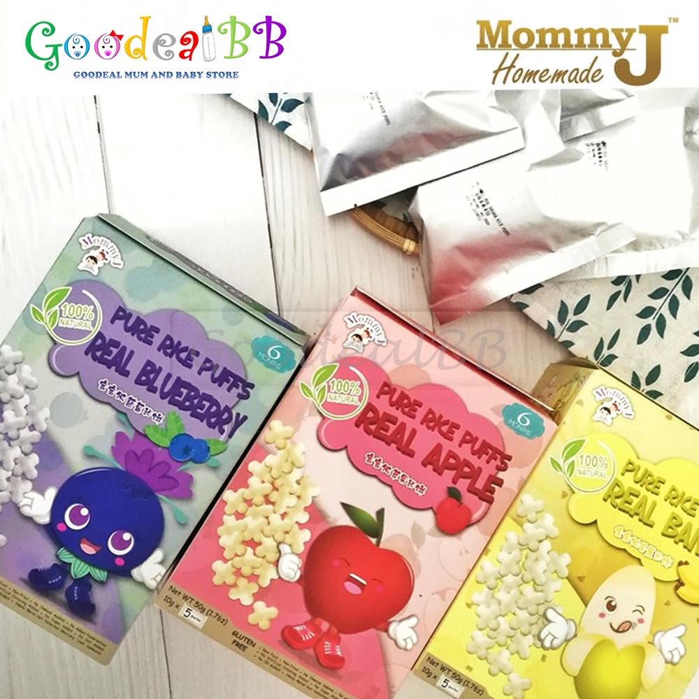 Mommy J - Pure Rice Puff (Apple / Banana / Blueberry)