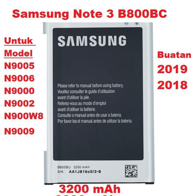 Ori Kualiti Samsung Note 3 N9005 B800BC battery bateri N9006 N9000 N9002  N900W8 N9009