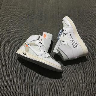 best service 4539a 22f93 Nike Air Jordan 1 x OFF-WHITE Joint AJ1 Full White AQ0818-100 36-45