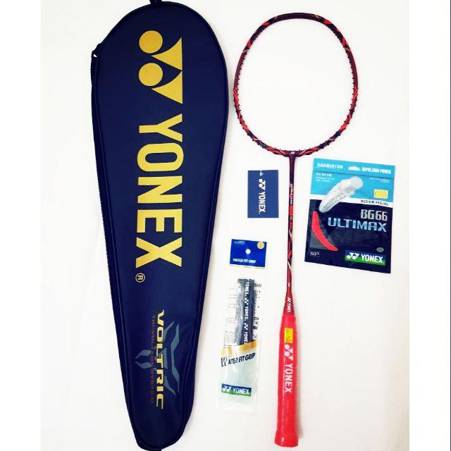 Raket Badminton Red Black Unstrung. Source · Yonex VOLTRIC LD FORCE .
