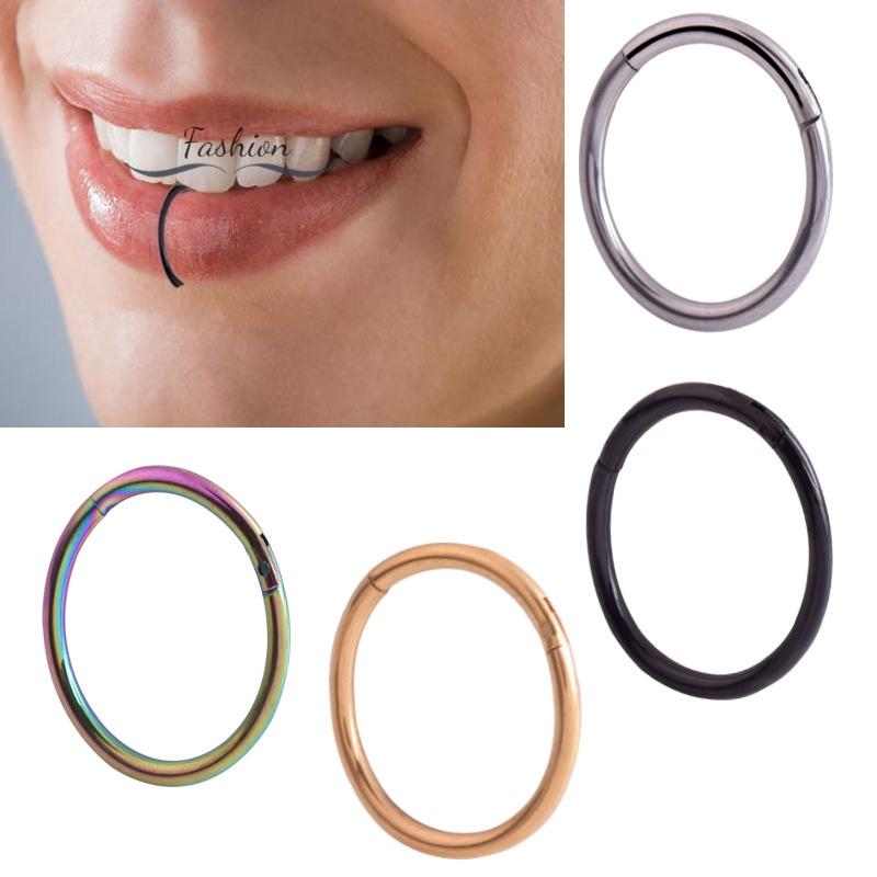 Dcdw Men Women Lip Ring Clip Stainless Steel Lips Septum