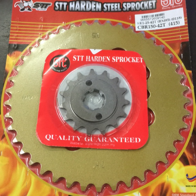 RS150 415 FRONT & REAR SPROCKET SET (415)