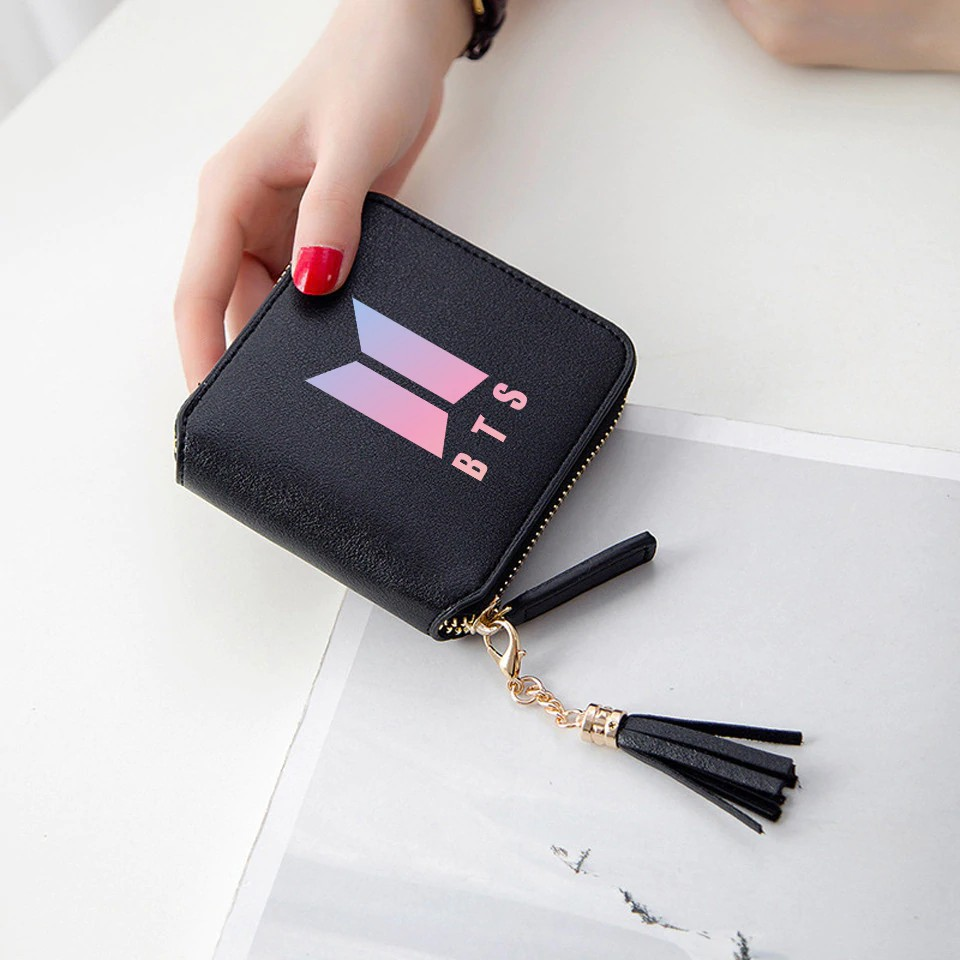 Lady New Korean Fashion Wallet For Kpop Fans Forever Young Card Pouch Short Wallet Women Girl Female Mini Army Cute Wallets Bag Wallets