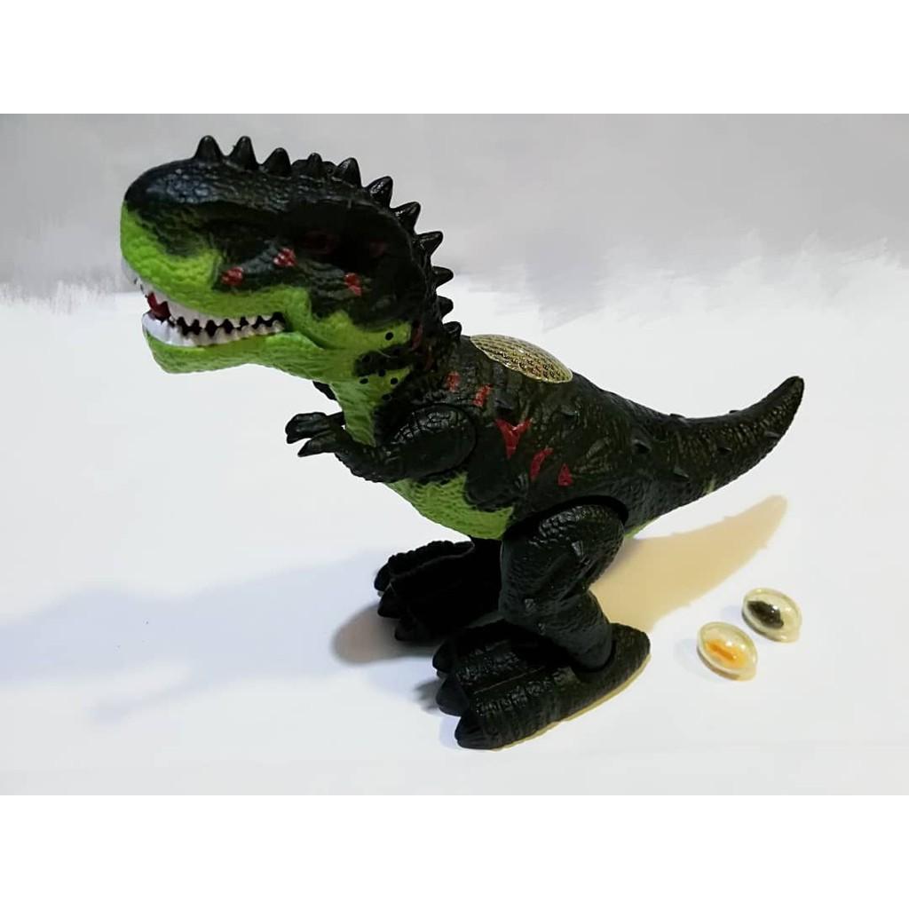 Dinosaur moving smoothly simulation sound cool light lays eggs