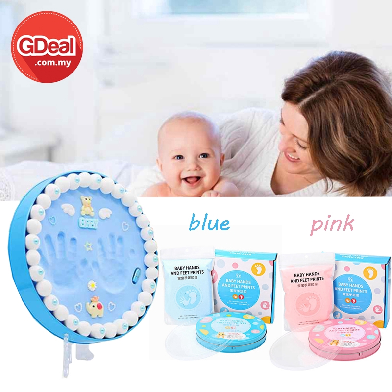 GDeal Hand And Feet Inkpad Prints Baby Soft Clay Makers Memory Gift Set With Accessories (Random Colour)