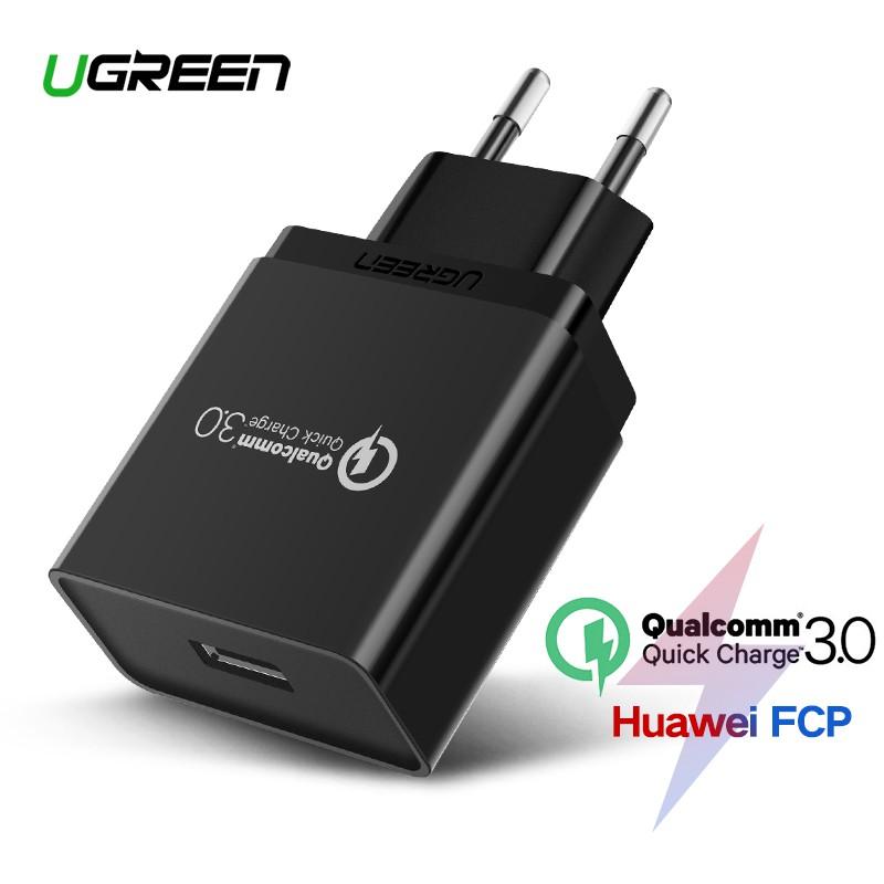 51a306040c427c UGREEN Qualcomm Certified Quick Charge 3.0 18W USB Wall Charger EU Plug |  Shopee Malaysia