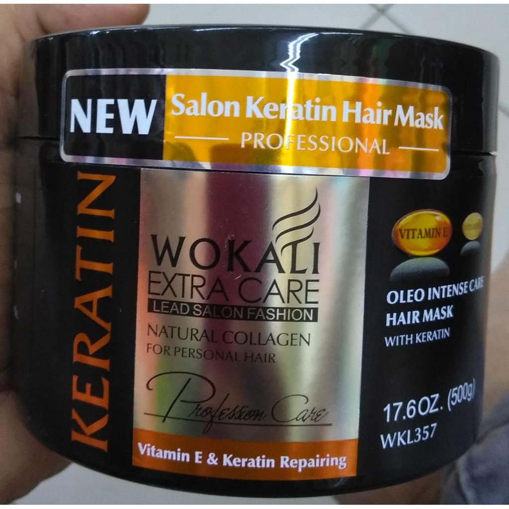 Wokali Extra Care Natural Collagen For Personal Hair Mask 500 g