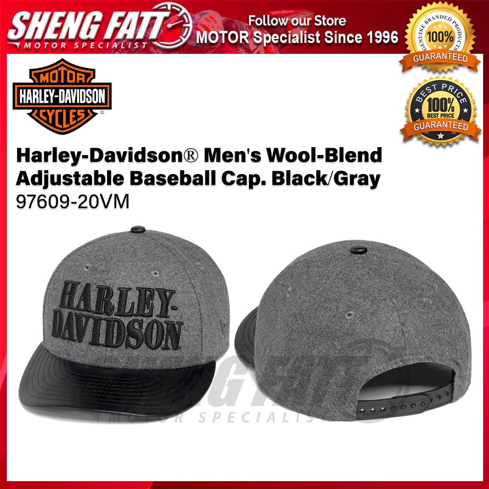 Harley-Davidson® Men's Wool-Blend Adjustable Baseball Cap. Black/Gray 97609-20VM