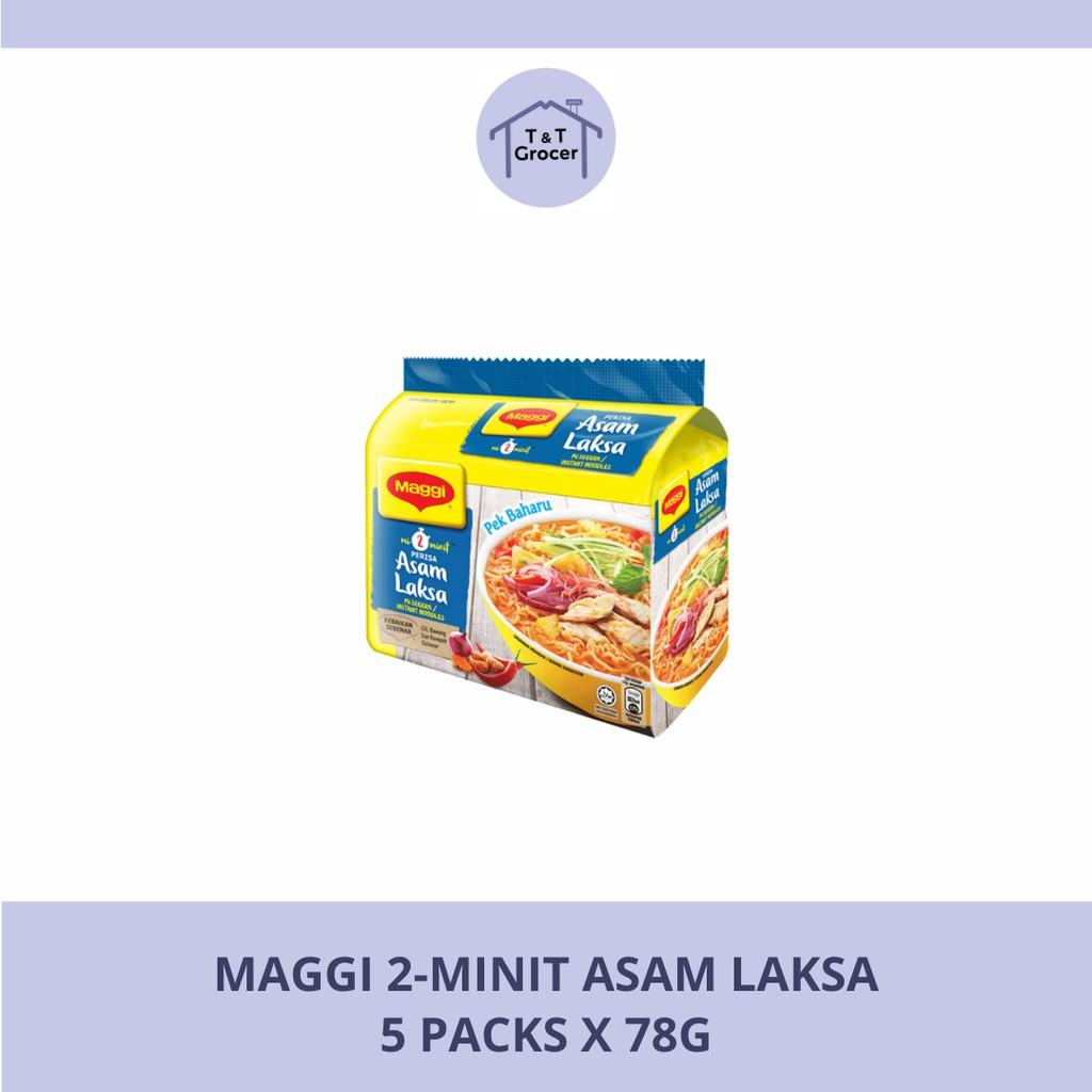 Maggi 2-Minit Asam Laksa [5x78g]