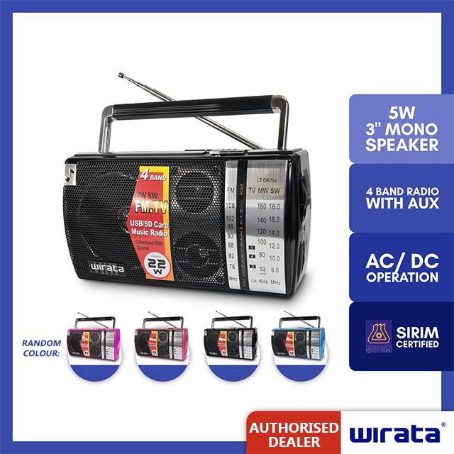 Wirata Portable Radio With USB/SD LT-D6.5 LT-D6.5U