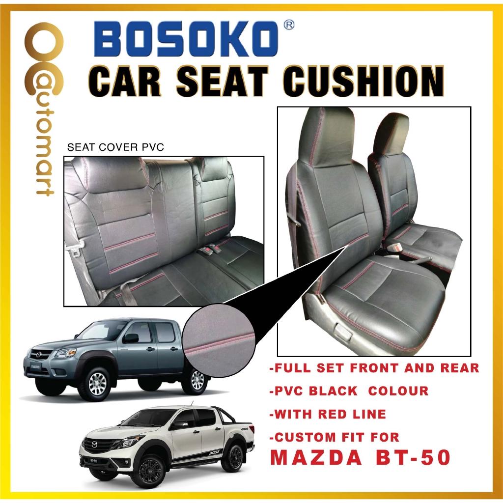 Mazda BT-50 Yr 2007-2015 - Custom Fit OEM Car Seat Cushion Cover PVC ( Made in Malaysia )
