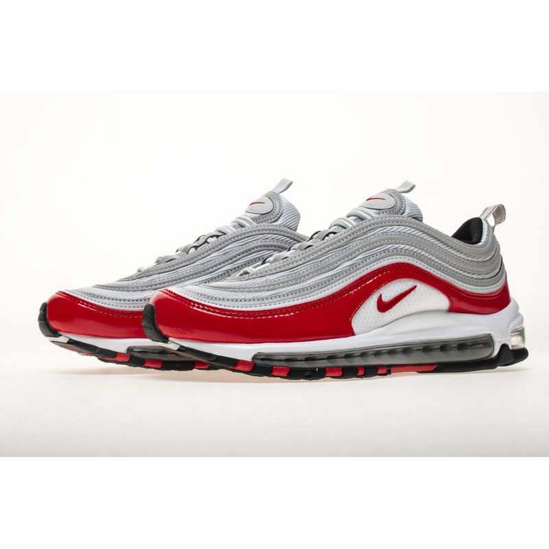 Original Nike Air Max 97 GS University Red Running Shoes Men Women Fashion Sports Sneakers For Best Quality