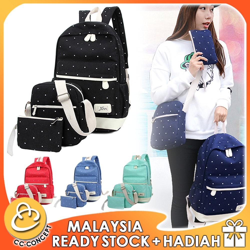 Harajuku simple wild canvas backpack small fresh female Korean version  ac80e7e91a4f4