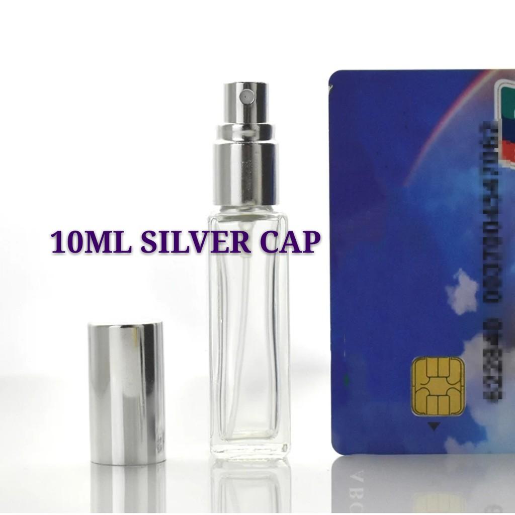 Glass Spray Bottle Rectangular Transparent Essential Oil Perfume Spray Shopee Malaysia