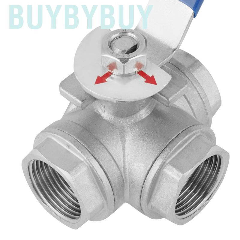 1/'/' Thread Ball Valve Female Stainless Steel Switch Durable Rust-Proof BSP