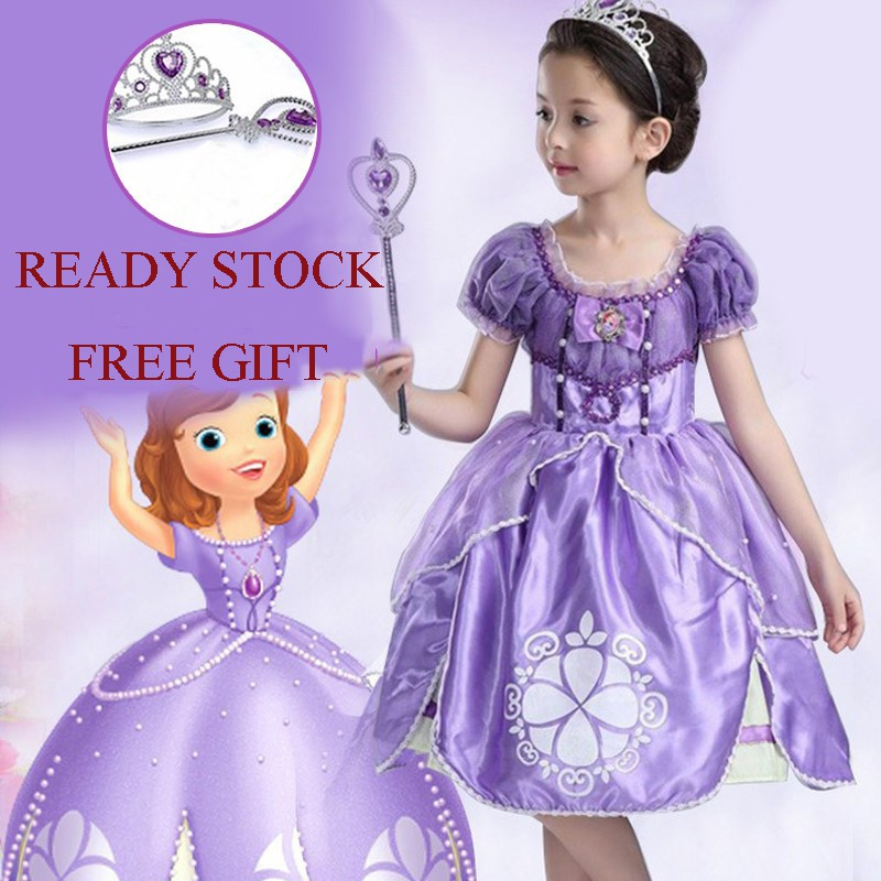 d116a513f7bf3 Girls Baby Little Mermaid dress Costume Ariel Cosplay Halloween Party dress  | Shopee Malaysia