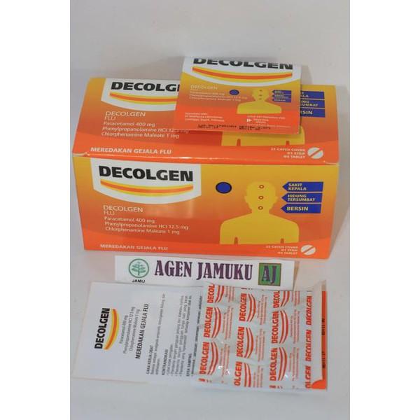 Decolgen Tablet - Obat Flu / Pilek Sakit Kepala Seseme isi 24 Strip x 4 Tablet
