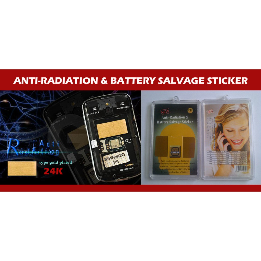 Anti Radiation & Battery Salvage Sticker 24K for Phone