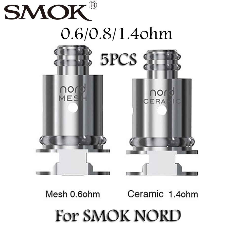 SMOK Nord Trinity Alpha Replacement Coils occ 5pcs mesh /ceramic/regular  /MTL Mesh pod