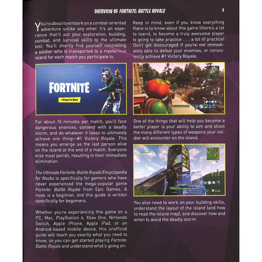 How To Practice Fortnite As A Noob Bbw An Unofficial Encyclopedia Of Strategy For Fortniters Battle Royale For Noobs Isbn 9781510744578 Shopee Malaysia