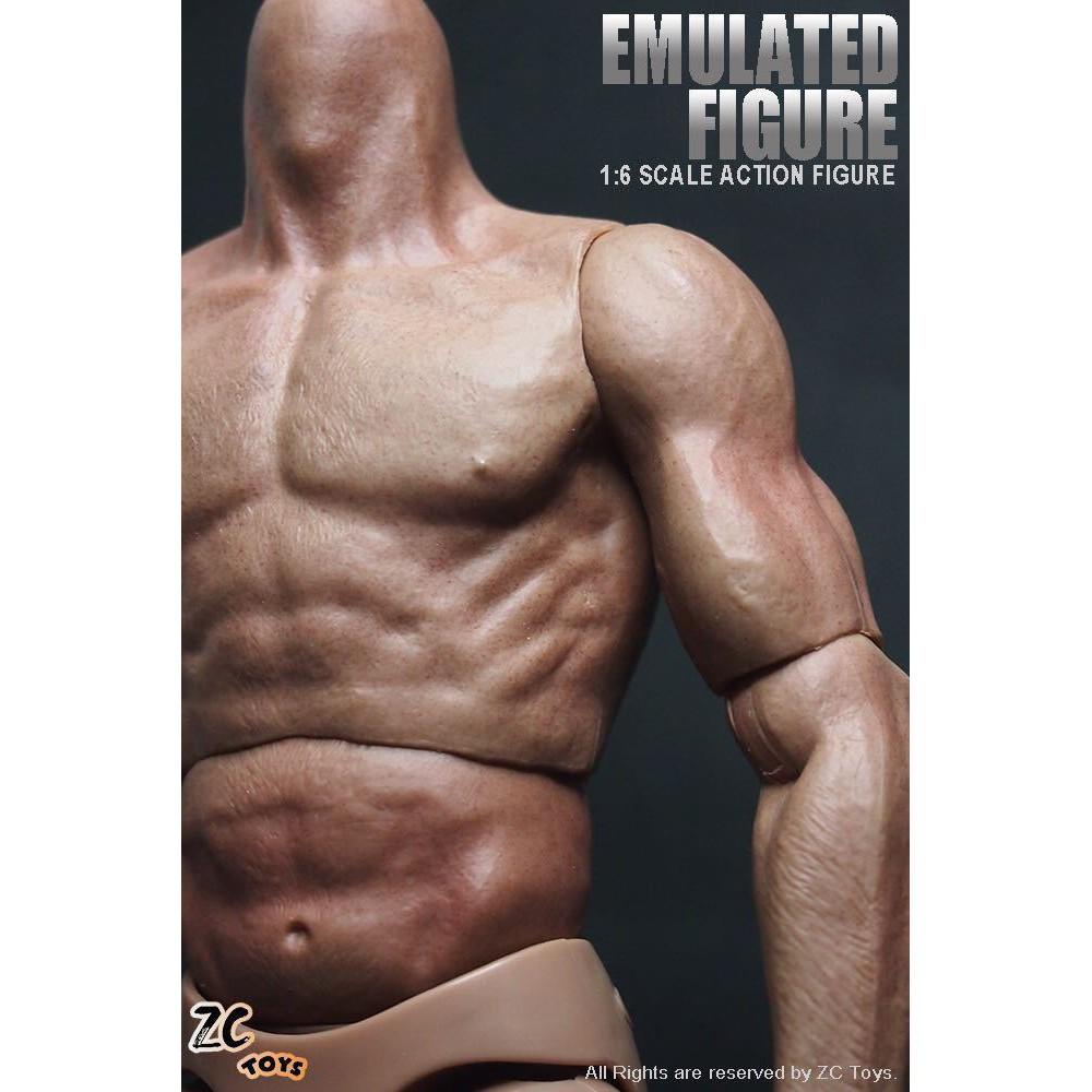 """COOMODEL B002 1//6 Muscular Men/'s Wide shoulder light Body For 12/"""" Male Figure"""