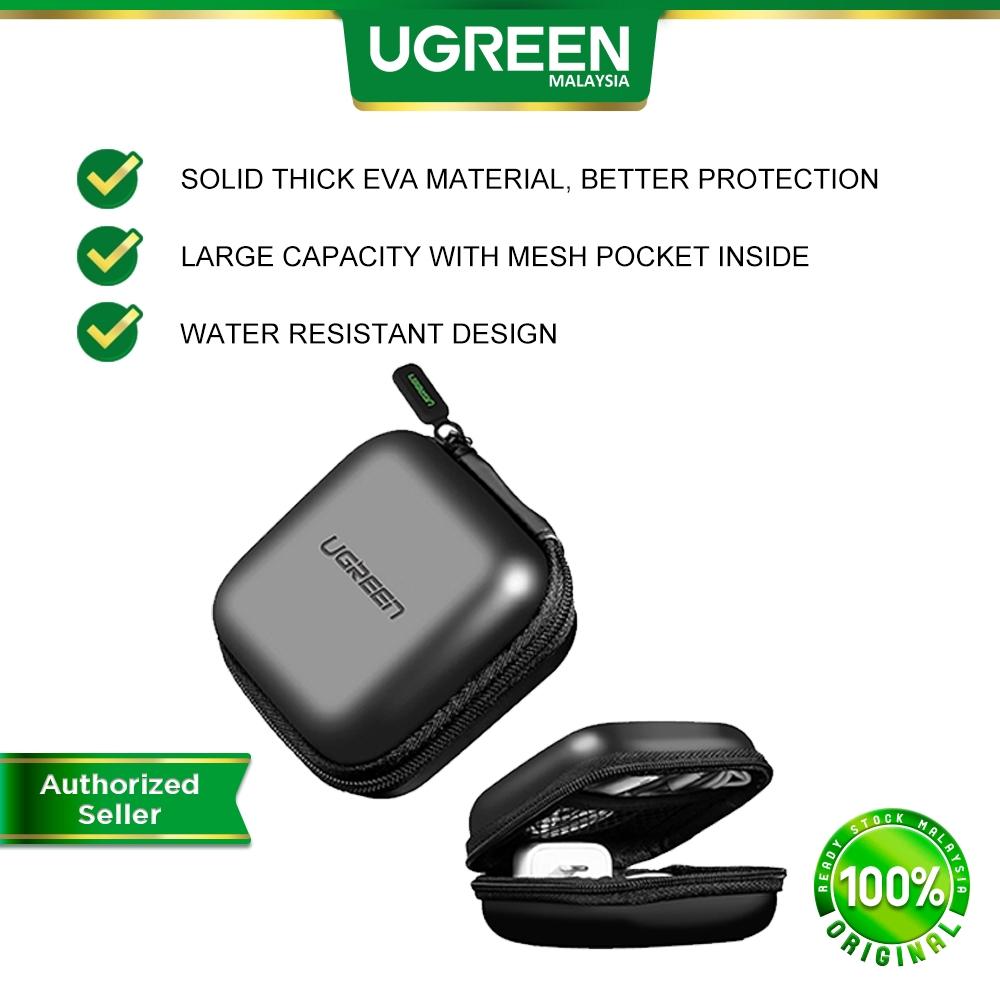 UGREEN Earphones Case Waterproof for Earbuds Memory Card Zipper Earphones Earbuds Carrying Bag Memory Card USB Cable