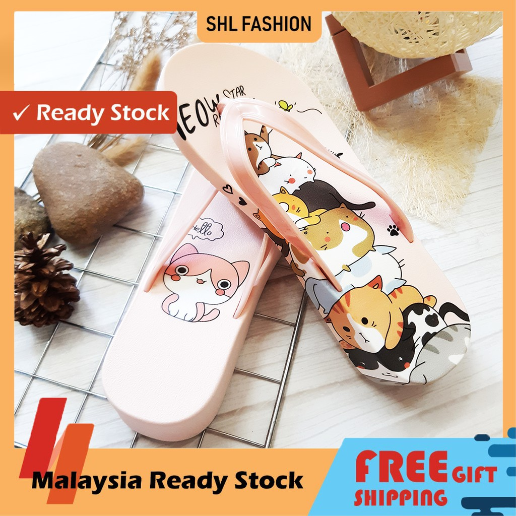 SHL Jelly Cat Sandal Slipper Flat Perempuan Wanita Kucing woman shoes size 36-40